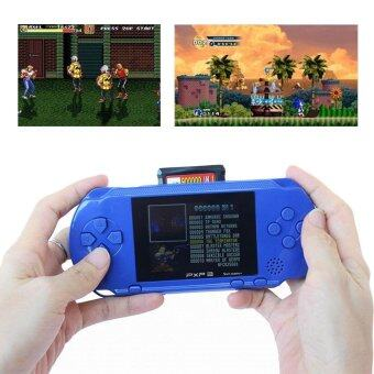 Harga PXP3 Game Players Console 16 Bit 2.7 Inch Portable Handheld VideoGame Retro Megadrive 150+ Games with 2pcs Game Card(Blue)