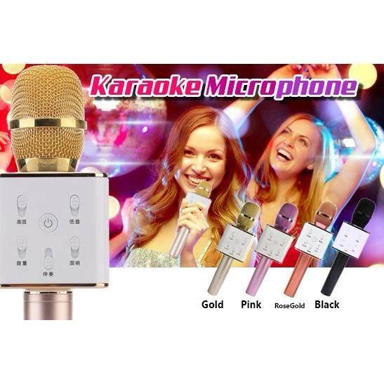 Q7 Wireless Bluetooth Karaoke Microphone Portable Speaker KTV MIC (Rose Gold)
