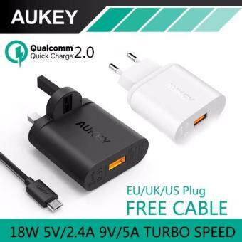 [Qualcomm Certified] Aukey Quick Charge 2.0 18W USB Turbo Wall Charger Fast Charger UK