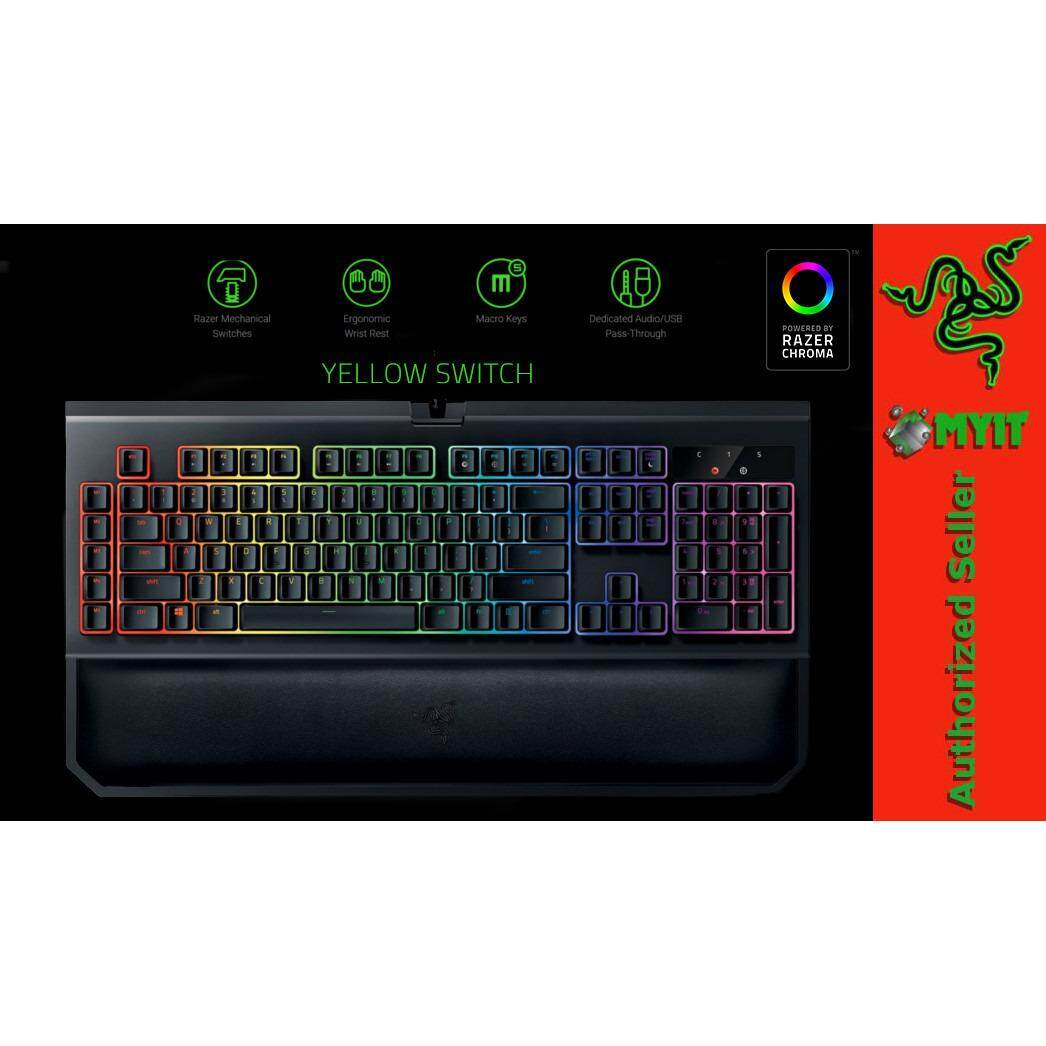 Razer Blackwidow Chroma V2 Gaming Mechanical Keyboard RGB Lighting