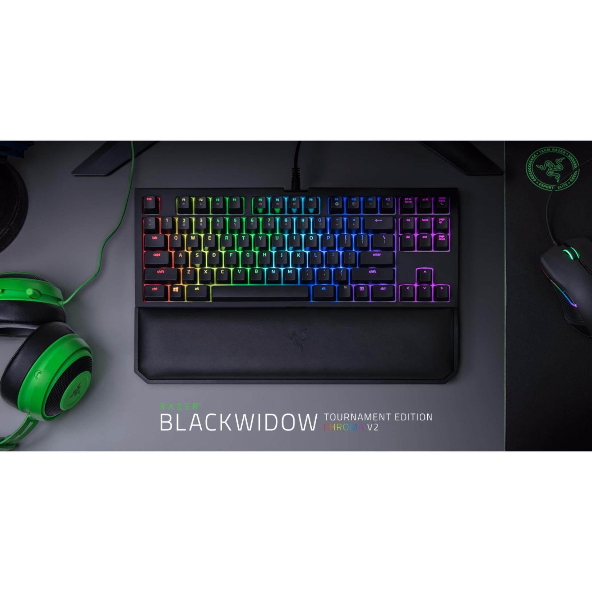 f6d96240302 Razer Blackwidow Tournament Chroma V2 Mechanical Keyboard (Razer Green  Switch, Multi-Colour Backlit Keys) - RZ03-02190100-R3M1