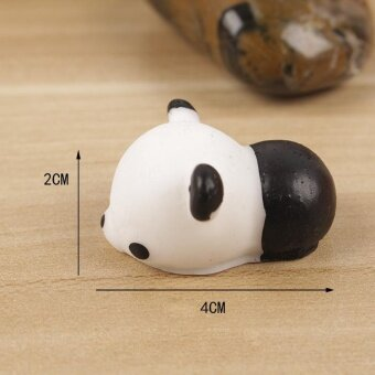 Harga Reduce Pressure Hand Squeeze Soft Squishy Toy Fidget Pinch Toy -Adorable Panda, Size: 4 x 2cm
