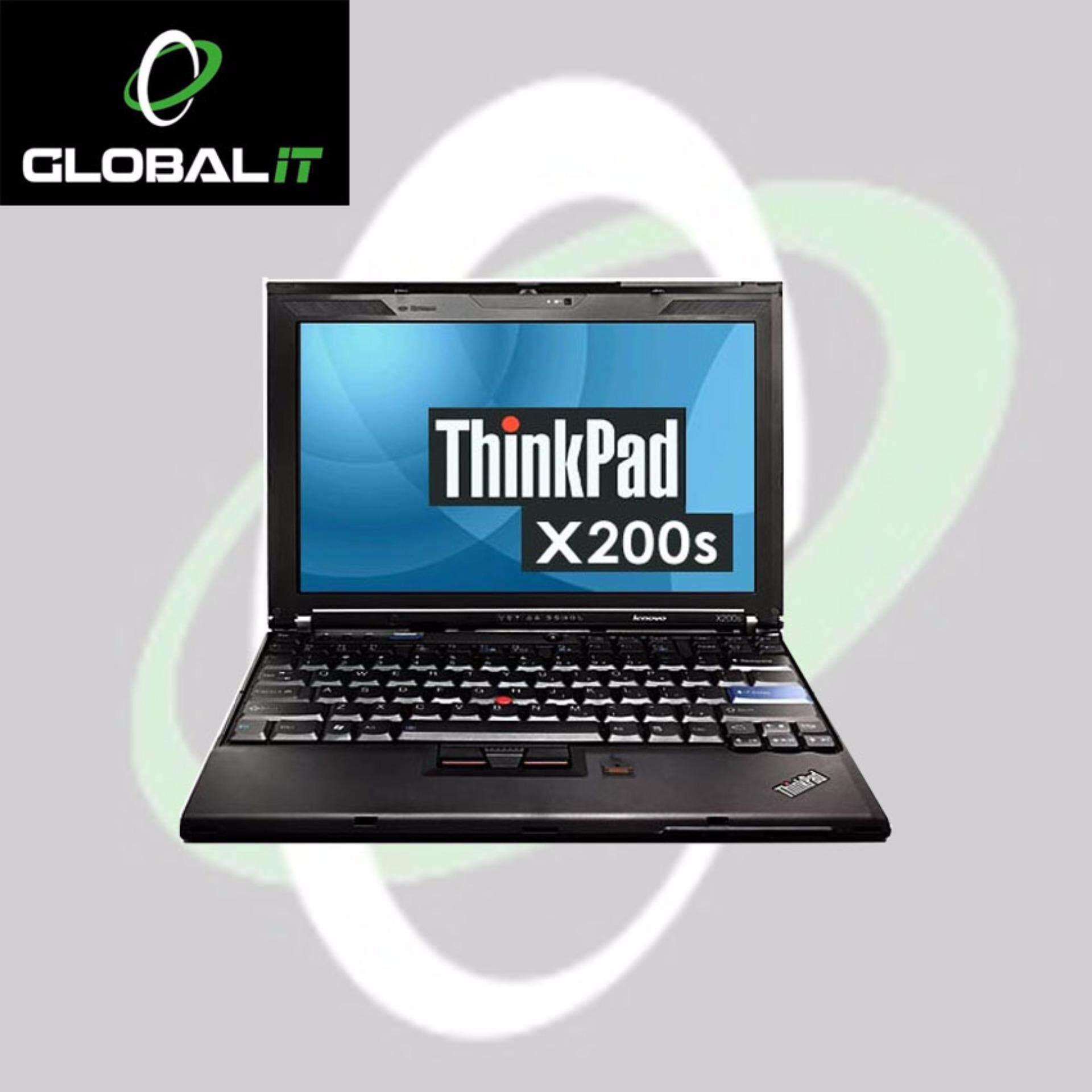 REFURBISHED LENOVO THINKPAD X200, ORIGINAL WIN 7 PRO   INTEL CORE 2 DUO   2 GB RAM  160 GB HDD  INTEL GRAPHIC VIDEO  12.5 INCH Malaysia