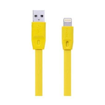 Harga REMAX Full Speed Quick Charge and Data Lightning Cable for iPhone/5S/6/6s/6s Plus & iPad Air/Mini (Yellow)
