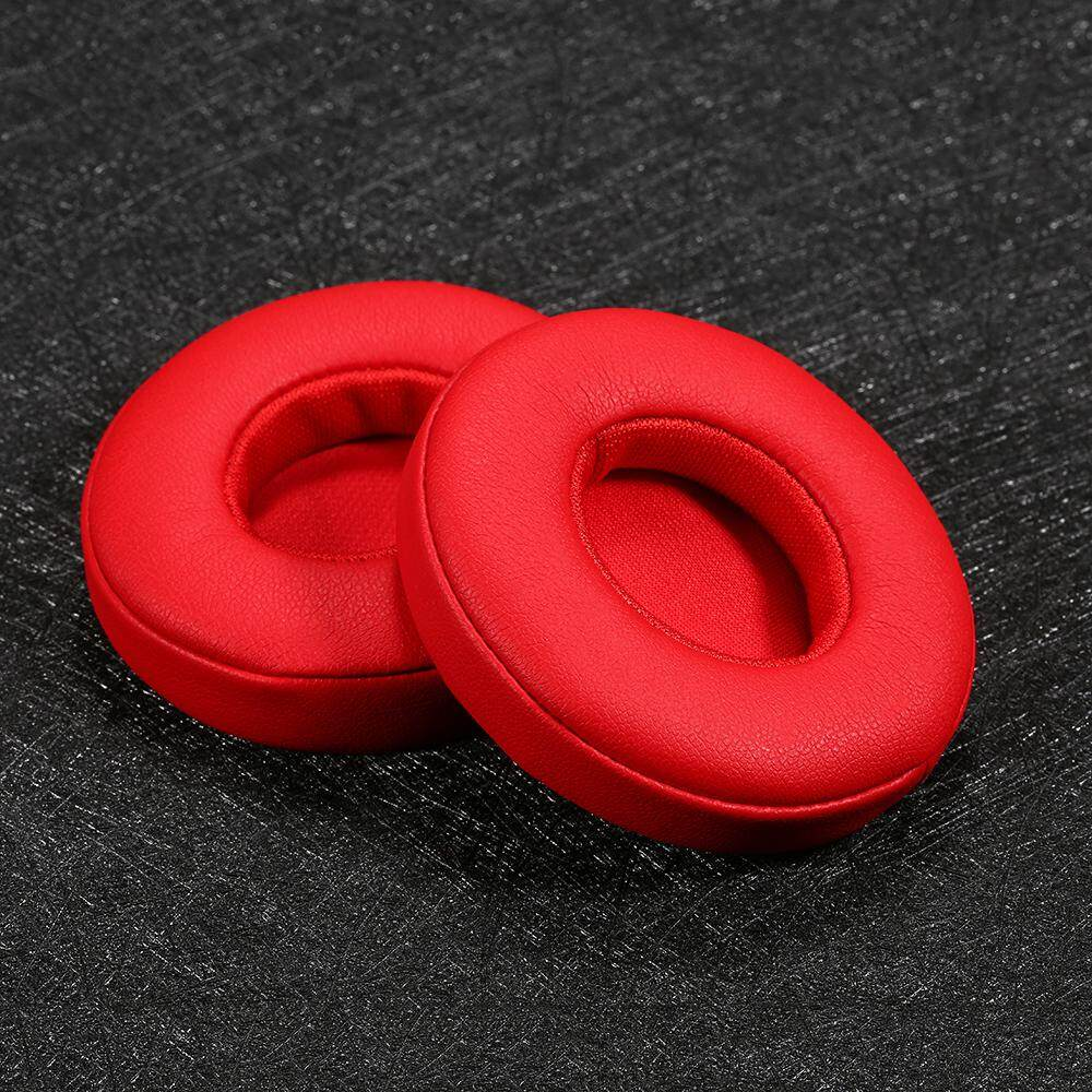 Replacement Memory Ear Pad Cushion Protein Leather Memory Foam for Beats Solo 2.0 Wired On Ear