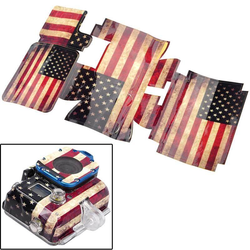 Retro Amerika Serikat Kasus Pola Bendera Stiker untuk GoPro HERO3-Internasional