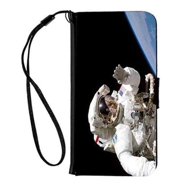 Rikki Knight Lumba-lumba Silhouette Di Air Desain iPhone 6 & 6 S PU Dompet Lipat Case dengan Stand Penyangga dan Magnetik tutup-Hitam-Internasional