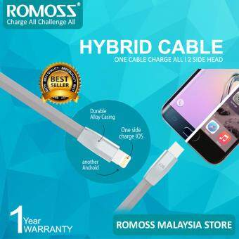 Harga ROMOSS Rolink Hybrid Premium Cable ,Lightning Cable (8pin) and Micro USB Cable