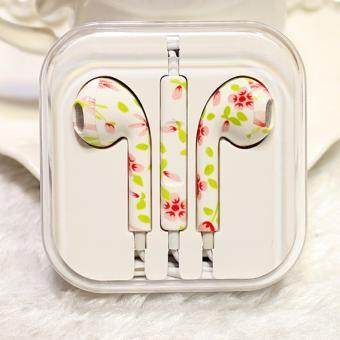 Harga Rorychen Printed with Wheat Thread Original Wired In-Ear Earphonesfor Apple IPhone 5 5C 5S 6 6S 6 Plus 6S