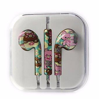 Rorychen Printed with Wheat Thread Original Wired In-Ear Earphonesfor Apple IPhone 5 5C 5S 6 6S 6 Plus 6S