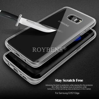 ROYBENS Ultra Thin Soft Silicone Case Cover + Screen Protector ForSamsung Galaxy S7 Edge Clear