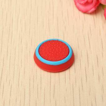 Rubber Silicone Thumbstick Joystick Cap Thumb Stick Cover Grips For PlayStation 4 PS4 Wireless Controller Red