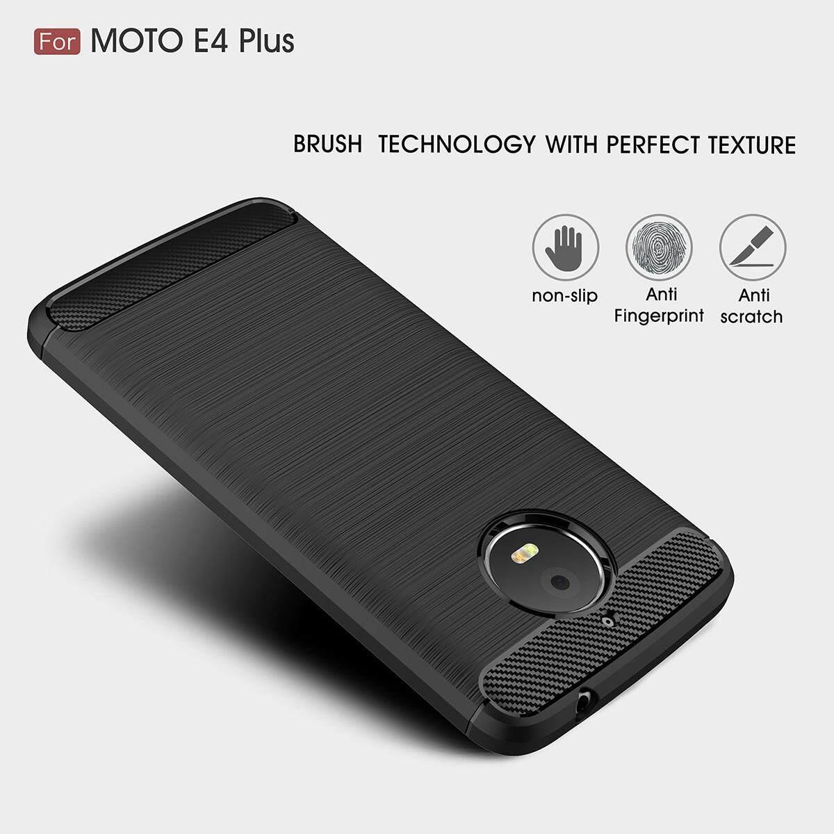 Fitur Rugged Armor Case Untuk Motorola Moto E4 Ditambah Serat Karbon Tempered Glass Plus Full Cover Warna Elastis Penurunan Emisi Perlindungan Anti Gores