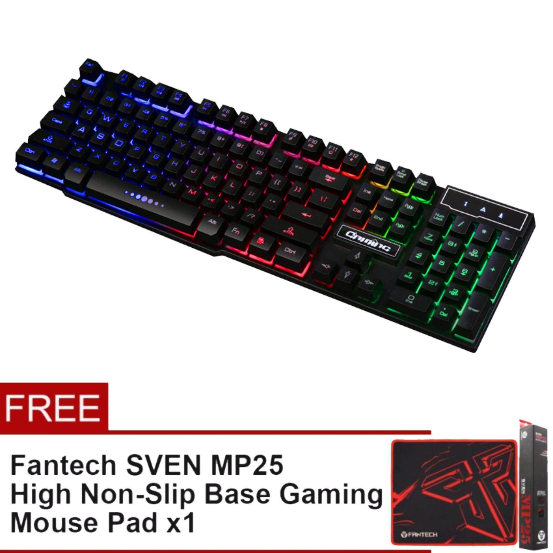 RUYINIAO [SP28] V8 USB Gaming Keyboard Rainbow Backlight For PC/Laptop Malaysia