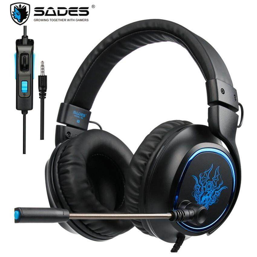 SADES R5 PS4 Headset Gamer 3.5mm Plug Game Headsets PC Gaming Headphones Stereo Earphones with Microphone Mic for Computer New X - intl