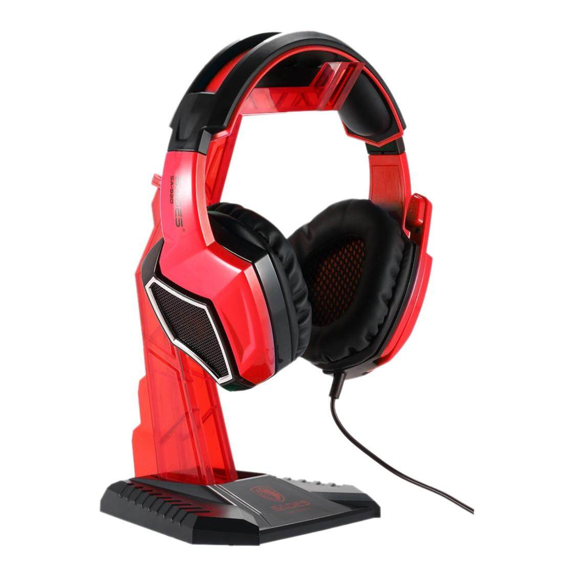 SADES Universal Multi-function Gaming Headphone Hanger Desk Headset Stand Holder Display Rack(Red