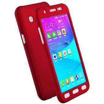 Samsung Galaxy J5 Prime 360 Degree Protection Matte Case Cover CasingRed