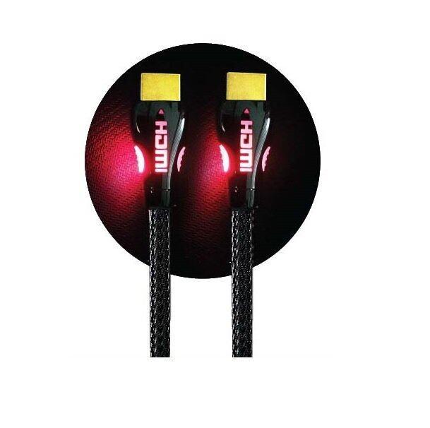 SAROWIN 2 Meter Premium HDMI Cable with Red LED Indicator - Version 2.0