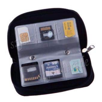 Harga SDHC MMC CF Micro SD Memory Card Storage Bag Wallet Case CarryingPouch Holder