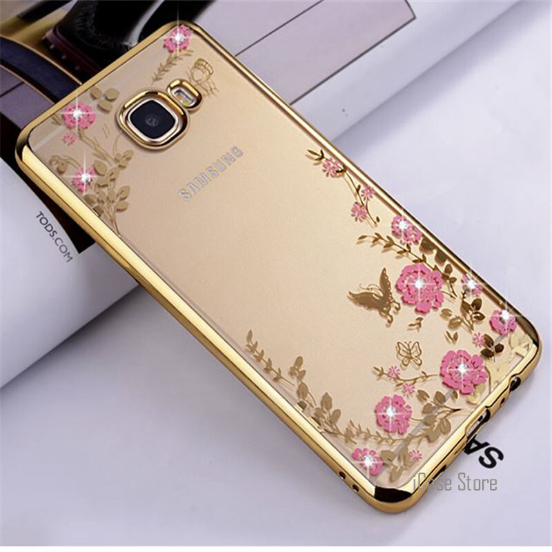 Secret Garden Flowers Diamond TPU Soft silicone Cover Case for Samsung Galaxy C9 Pro - intl