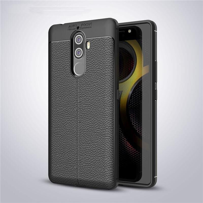 SevenPlus Slim-Fit Soft Flexible TPU Silicone Gel Anti-Scratch Shock Proof Anti-Finger Print Litchi Leather Pattern Protective Cover Case For Lenovo K8 Note - intl