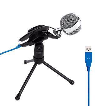 Harga SF-922B USB Condenser Microphone Podcast Studio Audio SoundRecording With Stand For KTV Computer PC Laptop Chatting Audio