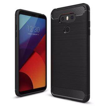 Shockproof Rugged Armor Silicon Case Carbon Fiber Texture BrushedTPU Soft Back Cover for LG G6