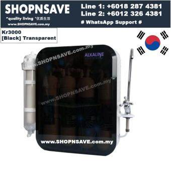 SHOPNSAVE KR3000 Korea Water Purifier,Alkaline Water Filter System, Water Filter, Water Filtration System, Transparent/Black*with Faucet