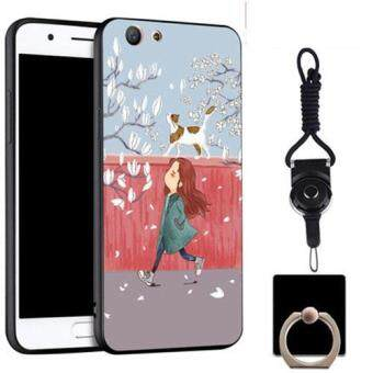 Silica Gel Soft Phone Case for OPPO A59/OPPO F1s with a Rope and a