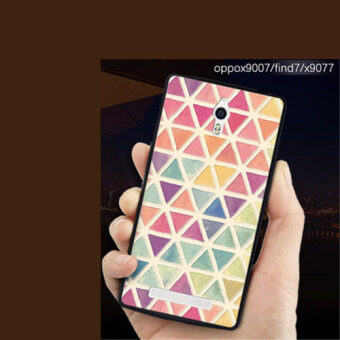 Silica Gel Soft Phone Case for OPPO Find 7 with a Rope (Multicolor)