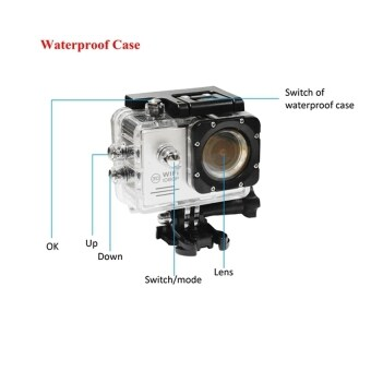 SJ7000 Action Camera 2-inch LCD Wifi Waterproof Sports Cam Gold