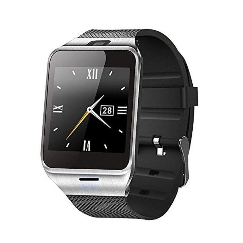 Pintar Jam Tangan, Tufen Bluetooth Jam Tangan Pintar HD Layar Sentuh Jam Tangan Mendukung Mikro Sim & 16 GB TF Kartu, Facebook, twitter, Whatsappwith Dibangun Di-Dalam Kamera untuk Android IOS Ponsel (Hitam)-Internasional