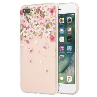 Cek Harga Soft Silicone Flowers Gedessineerde Case Cover For Iphone
