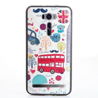 Harga Soft TPU 3D Embossed Painting Cover Case For Asus Zenfone 2 LaserZE601KL(London bus)