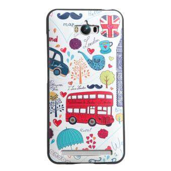 Harga Soft TPU 3D Embossed Painting Cover Case For Asus Zenfone MaxZC550KL(London bus)