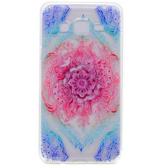Soft TPU Cover Case for Samsung Galaxy On5 SM-G550FY G550 (Flowers)
