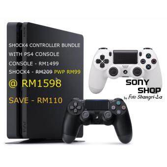 Harga SONY PS4 SLIM BUNDLE - 1TB PLAYSTATION + PWP 1 SHOCK4 CONTROLLER /SONY M'SIA WARRANTY