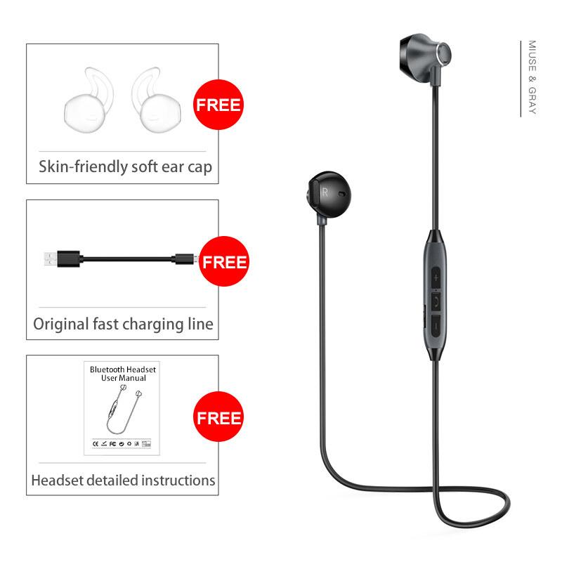 ... Merah Source · Sound Intone H2 Bluetooth Earphone Built in Microphone Mic Sport Running Wireless Earphones Bass Stereo