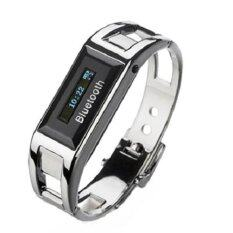 Stainless Bluetooth Bracelet Watch, Answer Call, LCD Display, Vibration, Callers ID Display BTB-01C (Silver) Malaysia
