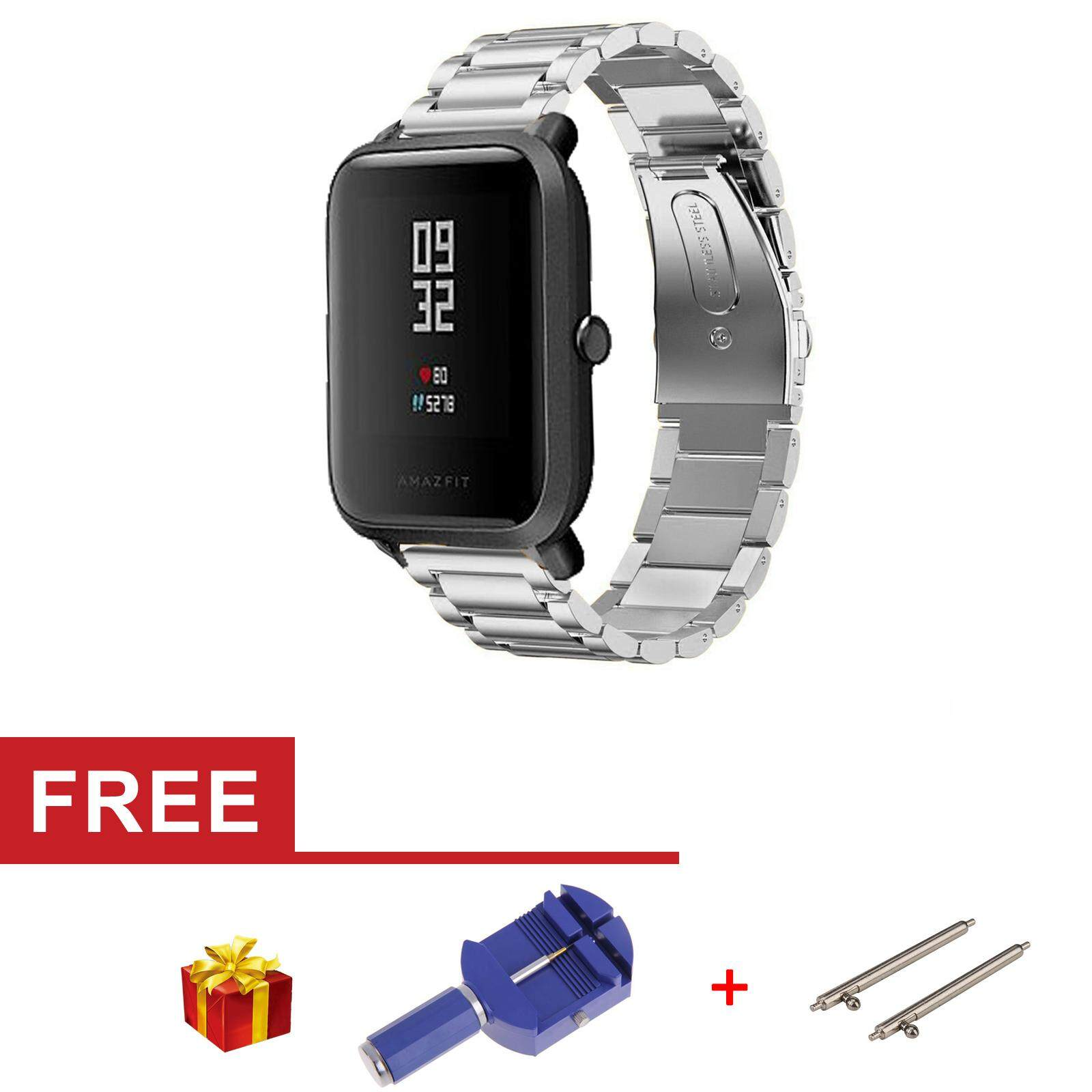 Stainless Steel Watch Band Strap Metal Clasp For Huami Amazfit Bip BIT PACE Lite Youth Smart Watch - intl