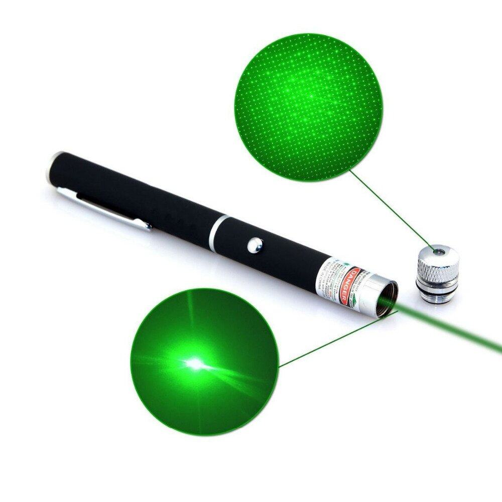 Star Cap High Power Laser Pointer Pen 2in1 5mw Powerful Green Laser (2AAA Batteries Included)