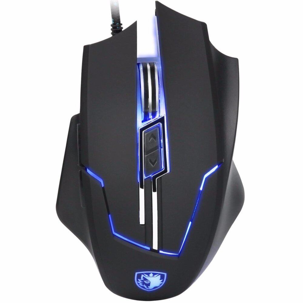 Star Sales SADES Q7 Gaming Mouse 6 Buttons Professional LED Optical USB Wired Gaming Mice for