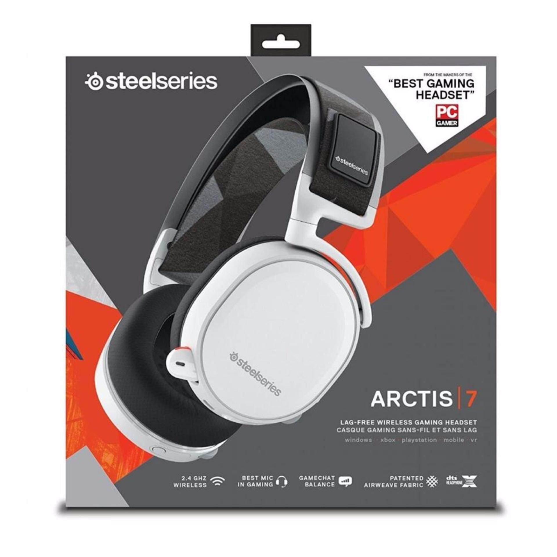 448bb835d2c SteelSeries 61464 Arctis 7 Wireless Gaming Headset - White