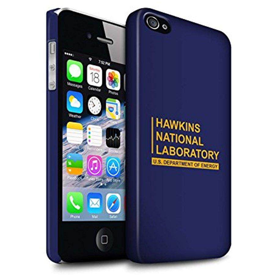 STUFF4 Matte Hard Back Snap-On Phone Case for Apple iPhone 4/4S / Blue Design / Hawkins National Laboratory Collection