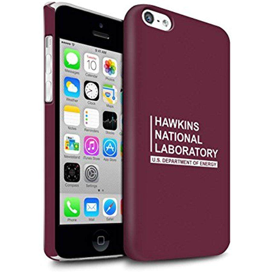 STUFF4 Matte Hard Back Snap-On Phone Case for Apple iPhone 5C / Red Design / Hawkins National Laboratory Collection