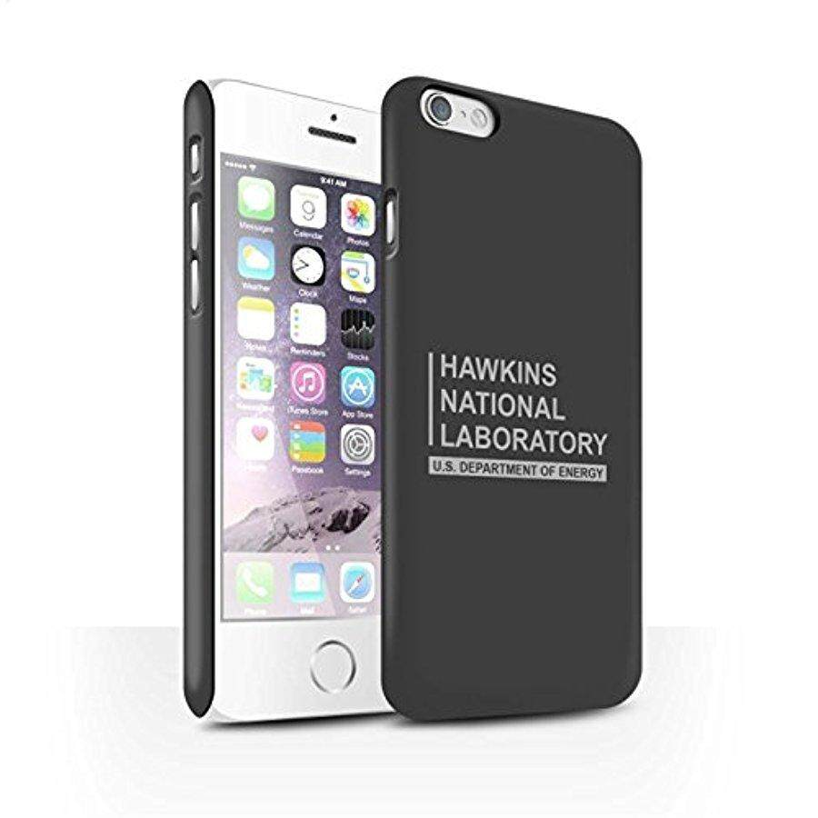 STUFF4 Matte Hard Back Snap-On Phone Case for Apple iPhone 6 / Grey Design / Hawkins National Laboratory Collection