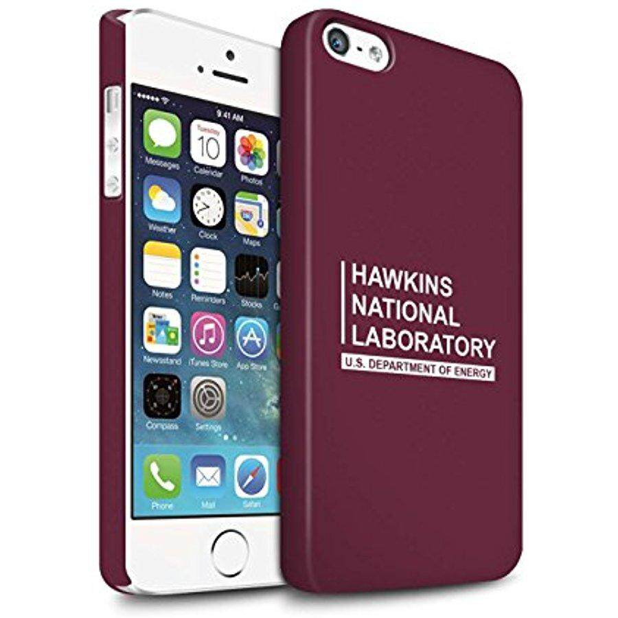 STUFF4 Matte Hard Back Snap-On Phone Case for Apple iPhone SE / Red Design / Hawkins National Laboratory Collection