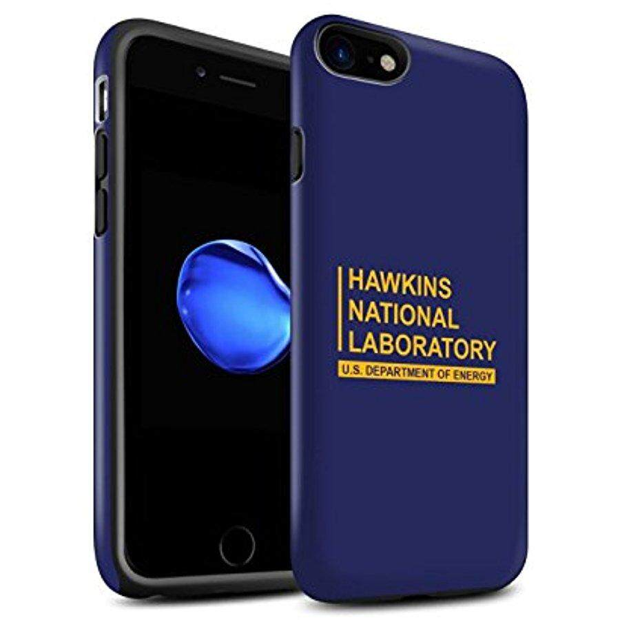 STUFF4 Matte Tough Shock Proof Phone Case for Apple iPhone 8 / Blue Design / Hawkins National Laboratory Collection