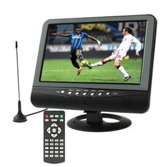 Harga SUNSKY 9.5 inch TFT LCD Color Analog TV with Wide View AngleSupport SD/MMC Card, USB Flash disk, AV In/AV Out, FM Radio (Black)