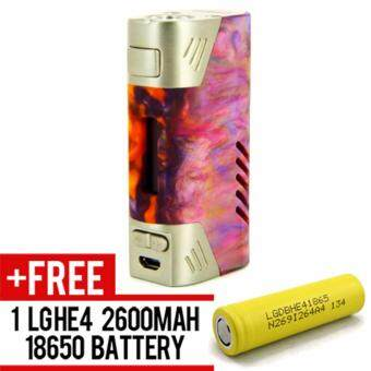 Harga Super Fast Marketing - Aleader Orbit Mod 80w (Multicolor) Mod ForVape And Electronic Cigarettes + 1 LGHE4 YELLOW BATTERY
